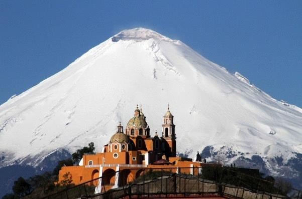popocatepetl con cholula