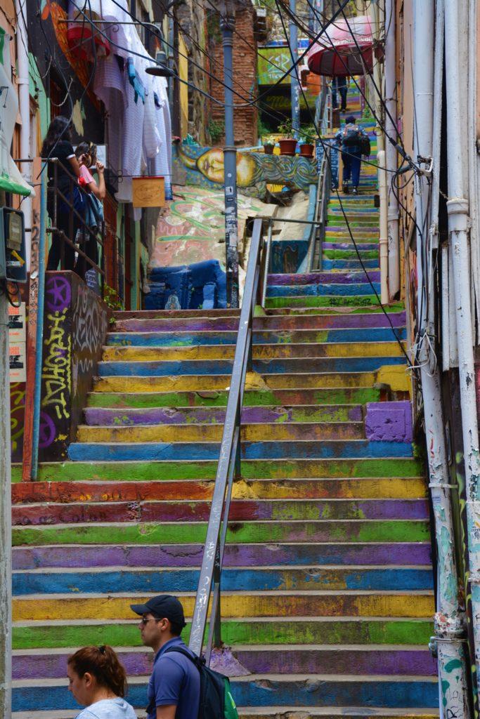 valparaiso scalini colorati