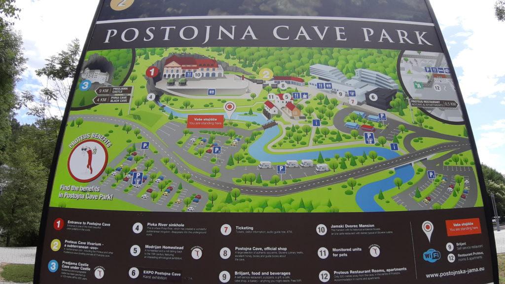 Postojna cave park map