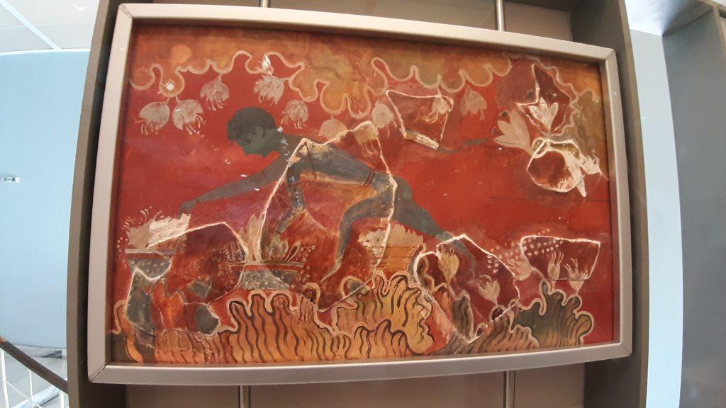 museo heraklion raccoglitore di zafferano
