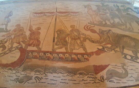 mosaico navi romane africa