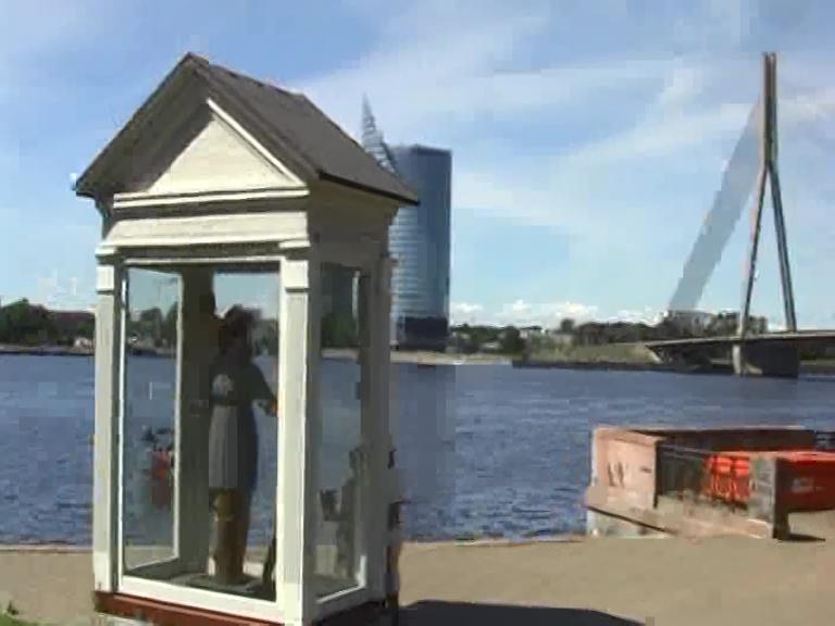 Riga - statua san cristoforo